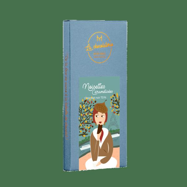 Noisettes caramelisées - chocolat noir 70%